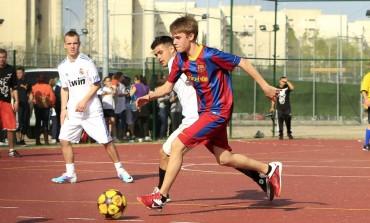 Justin Bieber en visite au FC Barcelone