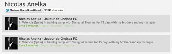 Nicolas Anelka ne connait pas le nom de son prochain club