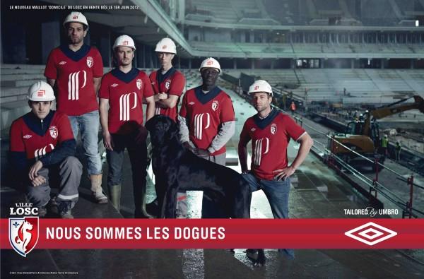 Nouveau maillot du LOSC 2012 2013 historique par Umbro