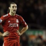 Liverpool's Carroll reacts after missing a chance to score during their English Premier League soccer match against Blackburn Rovers in Liverpool