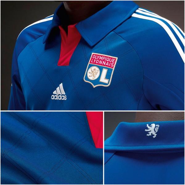 Maillot extérieur de lOlympique Lyonnais (OL) 2012 2013 par adidas