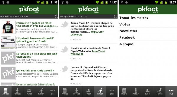 PKFoot sort sa nouvelle application iPhone/iPad et arrive sur Android