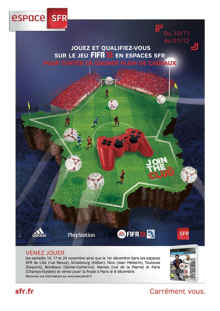 FIFA 13 fait sa tournée chez SFR