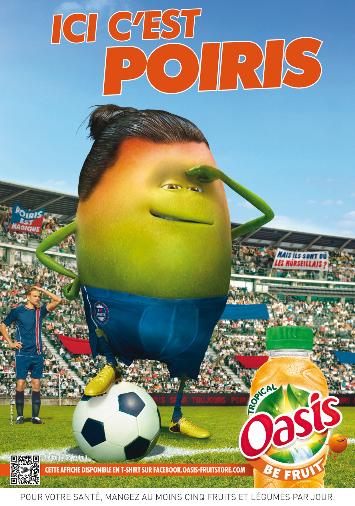 Oasis sort sa campagne Be Fruit et ses clins d'oeil foot