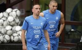 Franck Ribéry passe un coup du sombrero à l'entrainement