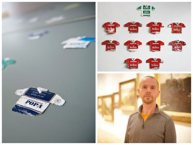 Leo Fitzmaurice transforme vos paquets de cigarettes en maillots de foot