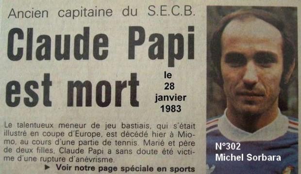 30 ans déjà : Claude Papi, l'âme du football corse