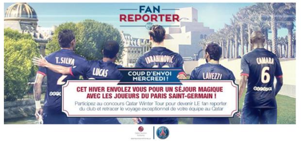 Le PSG recrute... son Fan Reporter !