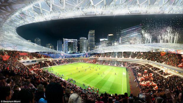 Les images du futur stade du club de Beckham à Miami