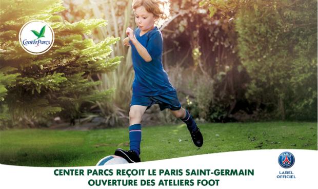Center Parcs reçoit le PSG pour des ateliers foot