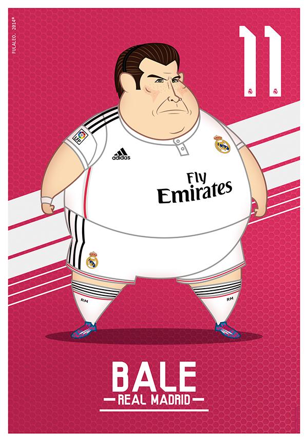 Fulvio Obregon dessine les joueurs du Real Madrid obèses