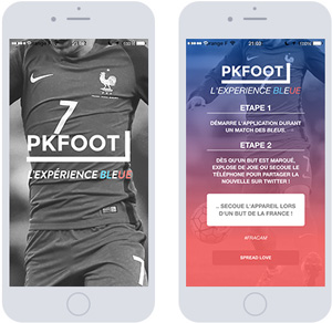 Application mobile PKFoot