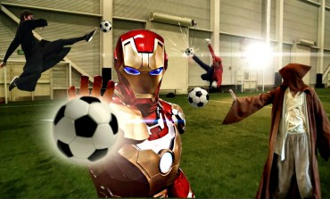 Si les super-héros se mettaient au football
