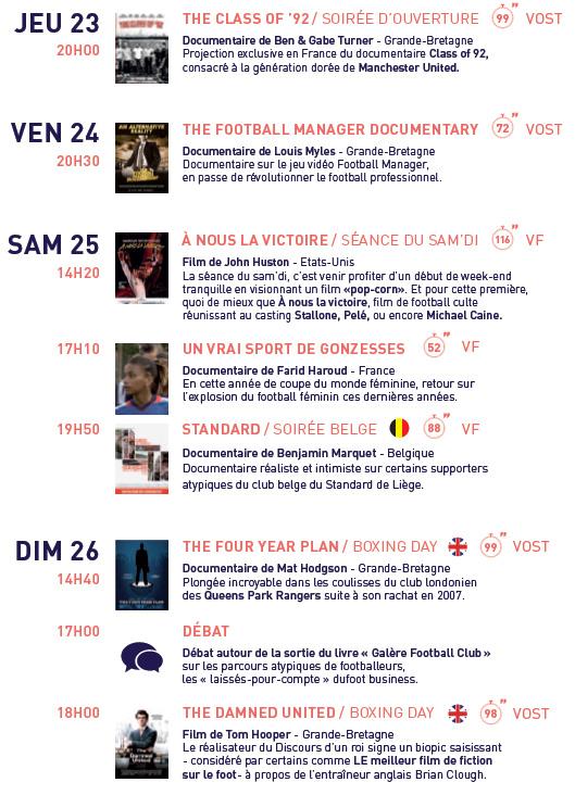 """Le Festival du film de football """"La Lucarne"""" est de retour en 2015 !"""