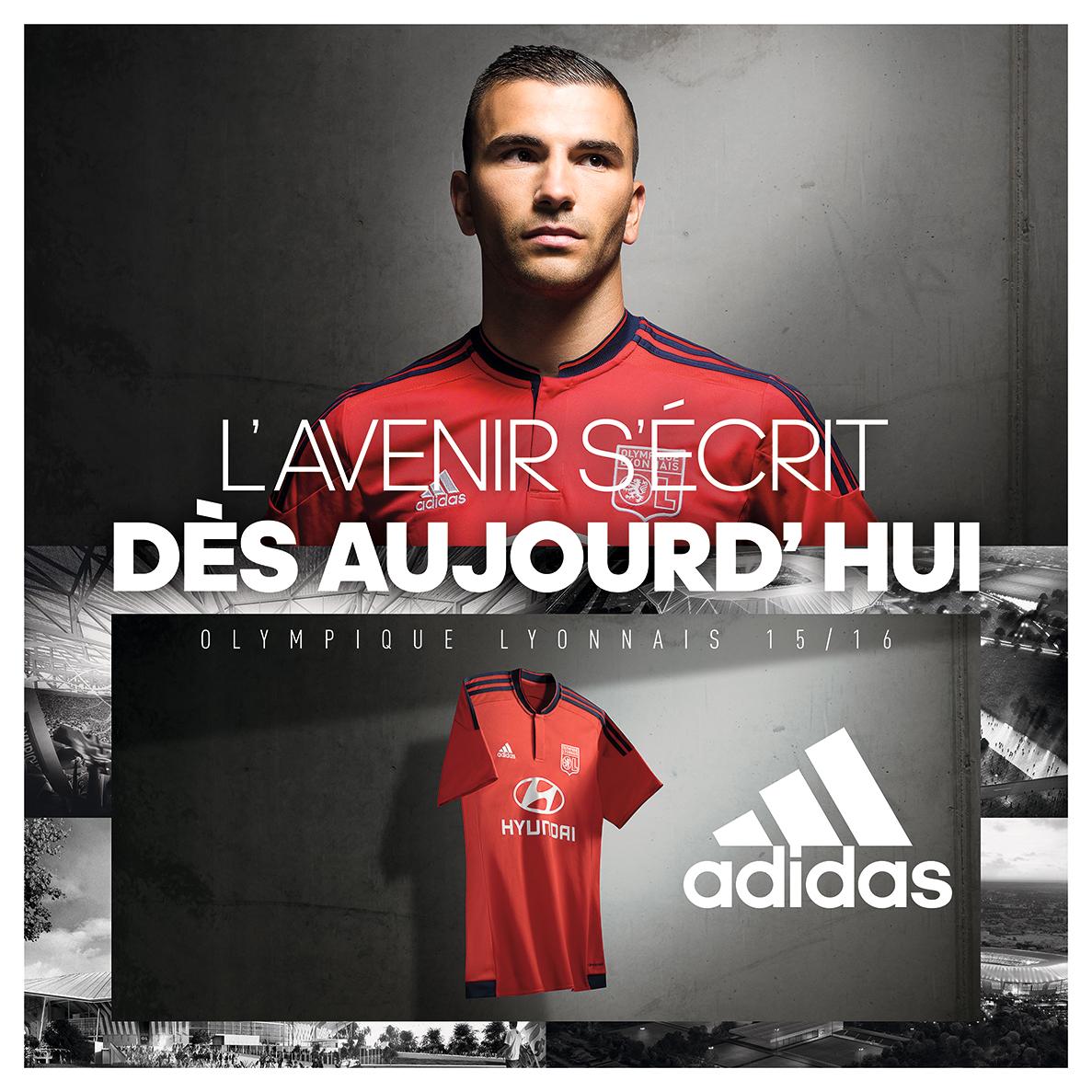 adidas présente les maillots domicile/extérieur de l'Olympique Lyonnais 2015/16