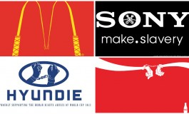 Les logos des sponsors de la FIFA détournés pour condamner Qatar 2022