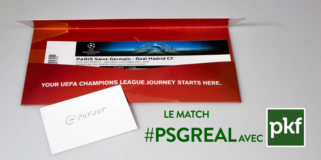 Gagne ta place pour PSG – Real Madrid sur PKFoot avec Nissan