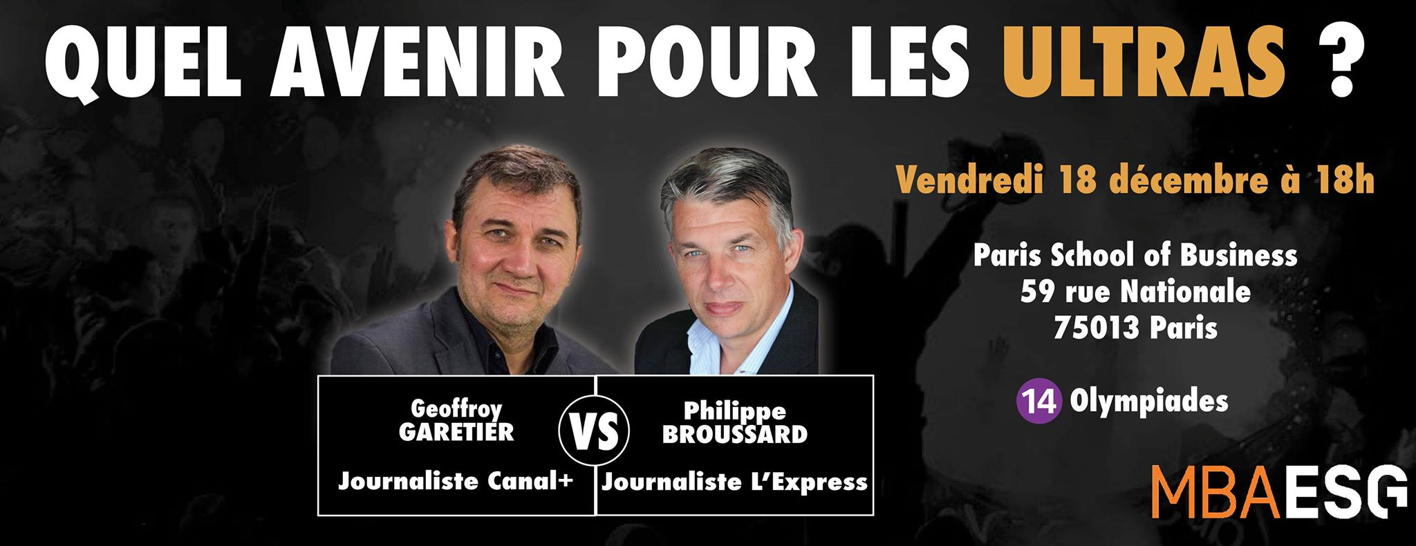 Un débat sur l'avenir des Ultras dans une école parisienne