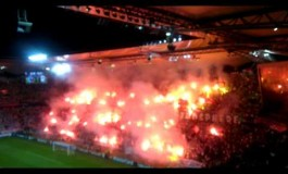 Le Legia Varsovie met le feu au stade