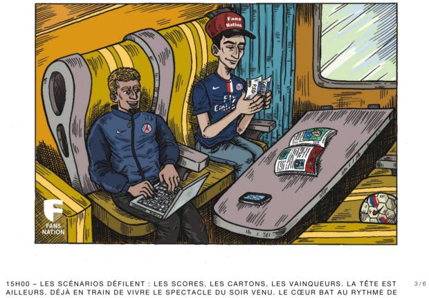 """""""Le voyage parisien"""", la BD du fan du PSG en visite à Stamford Bridge"""