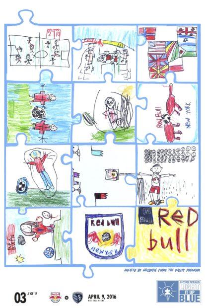 Les NY Red Bulls dévoilent une affiche dessinnée par des enfants autistes