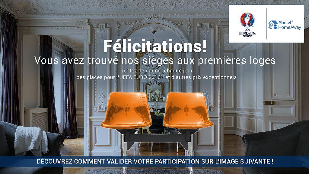 abritel fait gagner des places et des s jours pour l 39 euro 2016. Black Bedroom Furniture Sets. Home Design Ideas