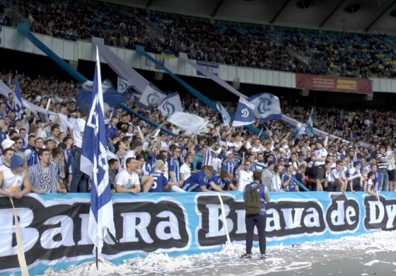 Les Ultras du Dynamo Kiev fêtent leur titre comme en Argentine