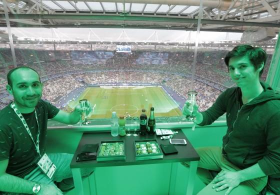 La #NacellePMU était de retour lors de la finale de la Coupe de France