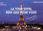 Abritel installe son appartement Euro 2016 au 1er étage de la Tour Eiffel