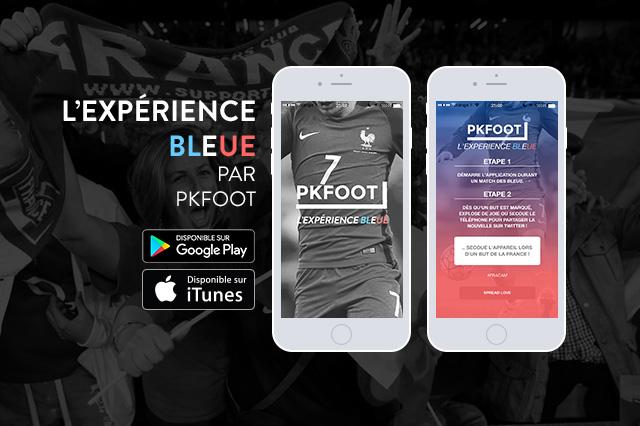 «L'Expérience Bleue», l'application fan experience de PKFoot pour l'Euro