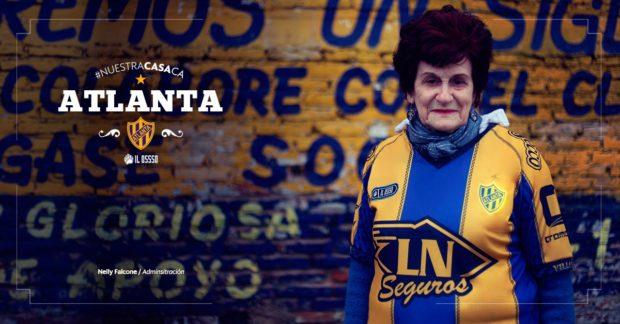 Campagne originale pour le lancement du maillot du CA Atlanta (Argentine)