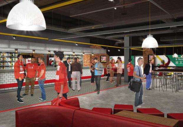 Carlsberg inaugure un bar géant dans Anfield