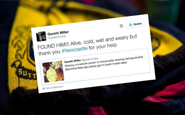 Deux clubs de Newcastle retrouvent un supporter disparu grâce à Twitter