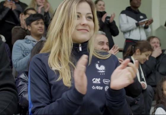 La FFF vient promouvoir le foot féminin avec Laure Boulleau