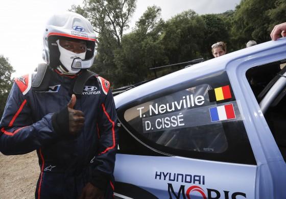 Djibril Cissé co-pilote au Rallye de Corse avec Hyundai