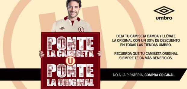 Umbro combat la contrefaçon au Pérou d'une manière originale
