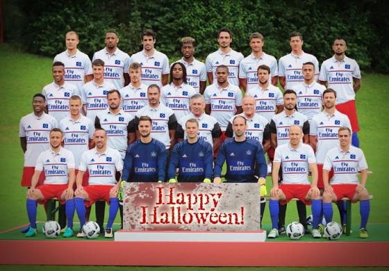 Les joueurs du Bayern Munich se déguisent en joueurs de Hambourg pour Halloween