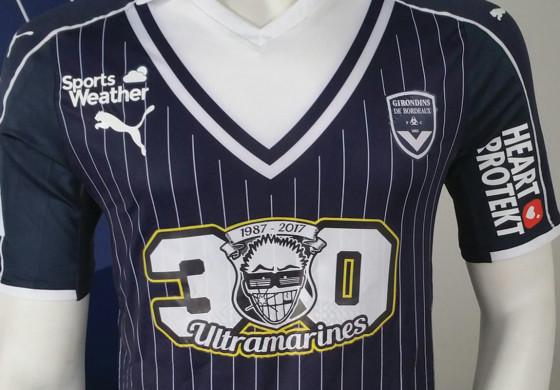 Un maillot collector pour les Girondins de Bordeaux pour l'anniversaire des Ultramarines