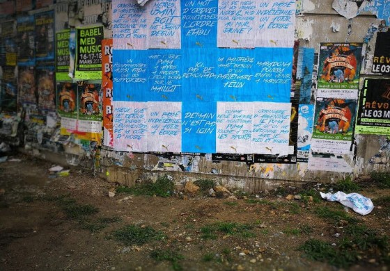 Puma fait de l'affichage sauvage dans les rues de Marseille