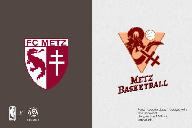 Les logos de Ligue 1 comme des logos de NBA