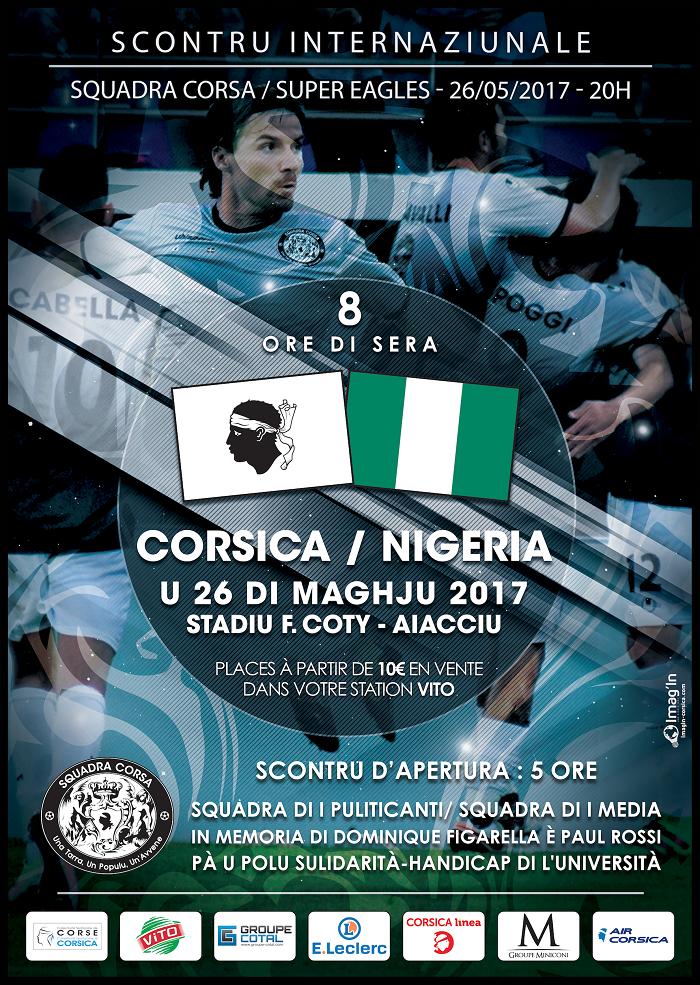 La «Squadra Corsa» affrontera le Nigeria le 26 mai à Ajaccio