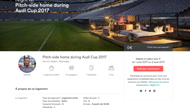 Airbnb et Audi vous privatisent l'Allianz Arena du Bayern Munich