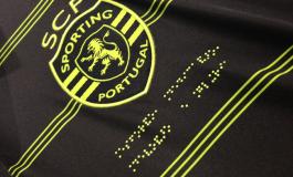Macron propose un maillot du Sporting CP en braille et en morse