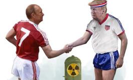 Un dessin foot provoquant pour illustrer la rencontre Poutine/Trump