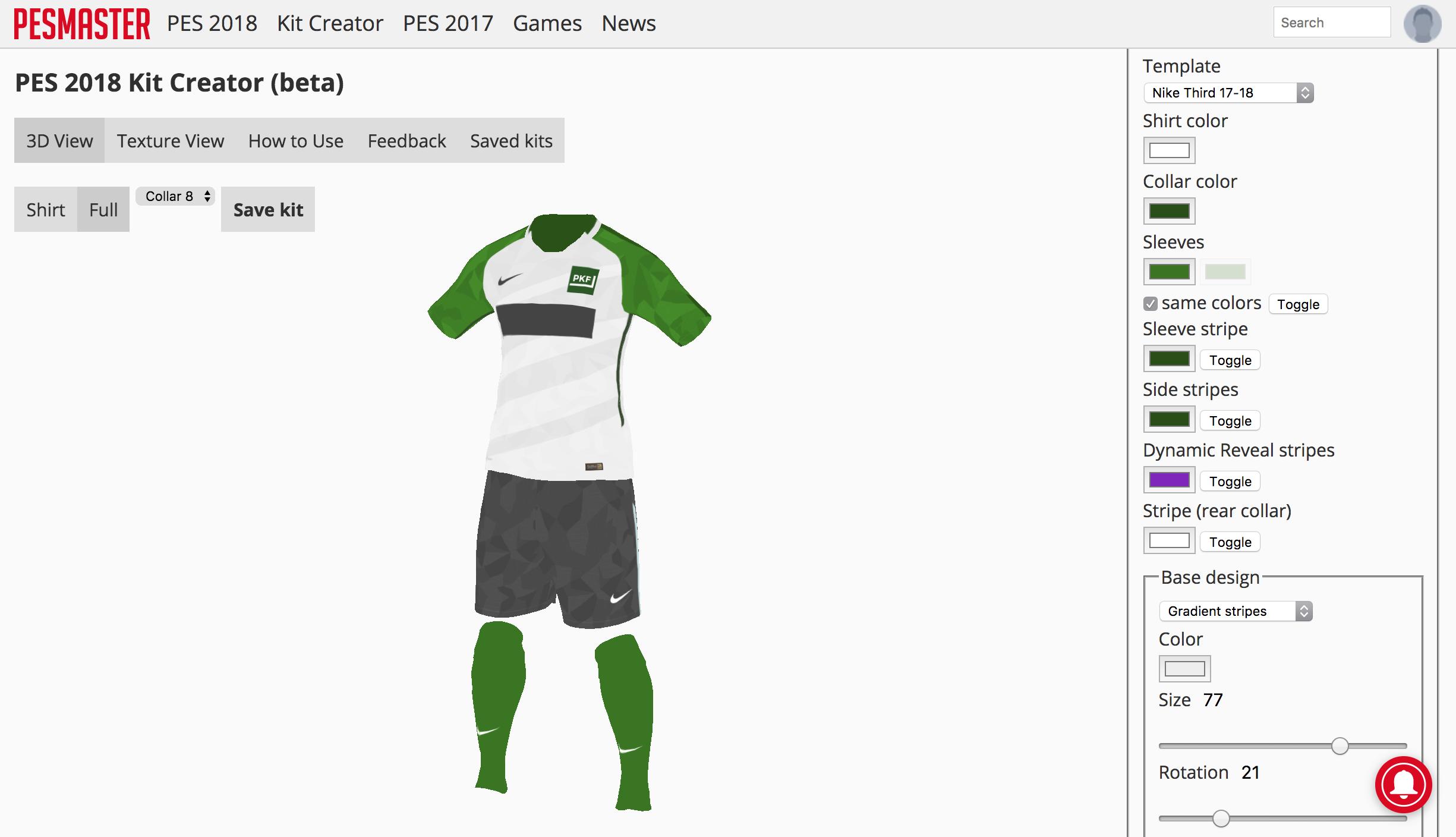 PES Master propose un éditeur de maillot surpuissant pour PES 2018