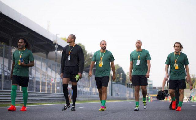 Des légendes de la Ligue des Champions et de la F1 s'affrontent pour la bonne cause