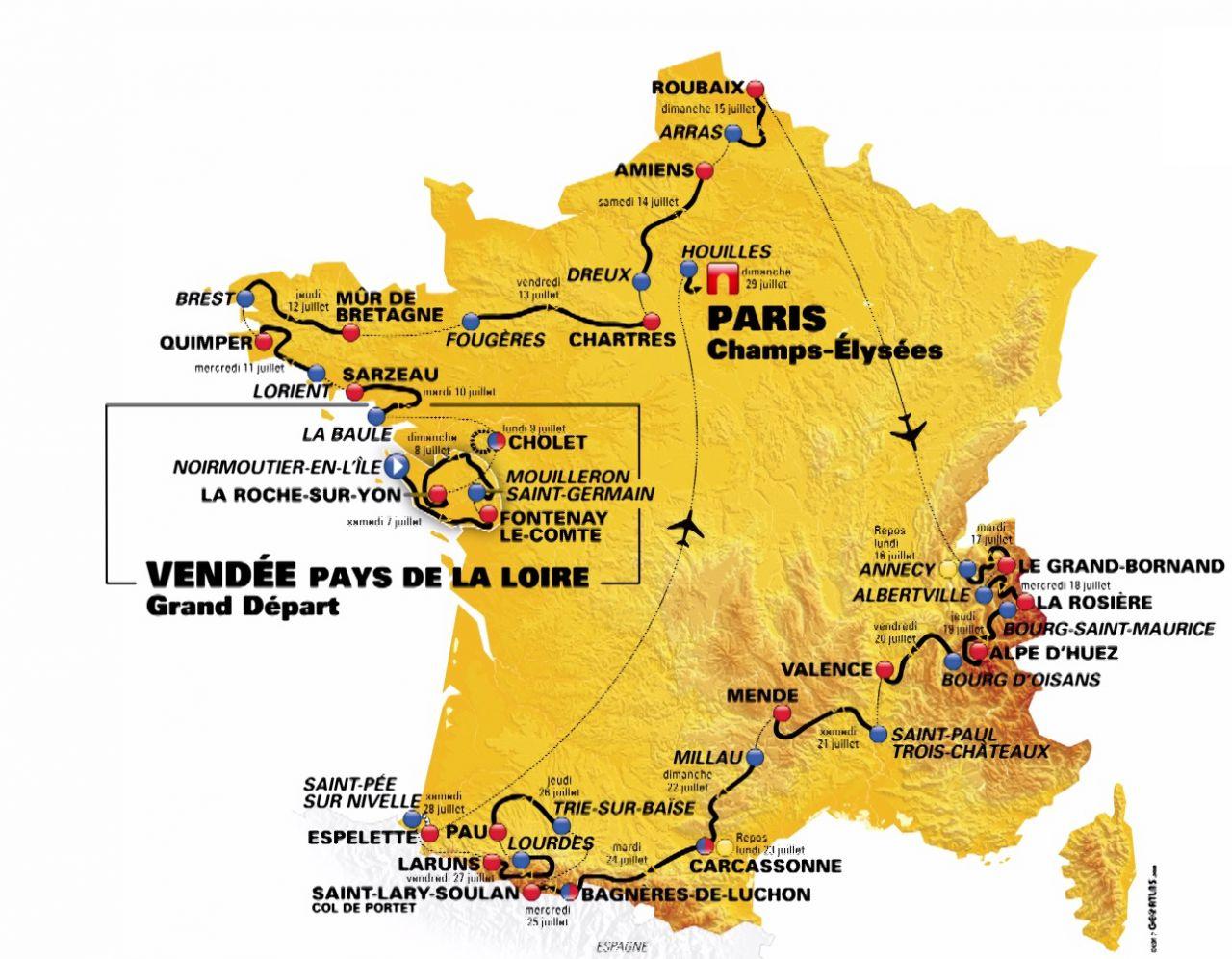 Pour le passage du Tour de France, le Stade Brestois dévoile un maillot jaune