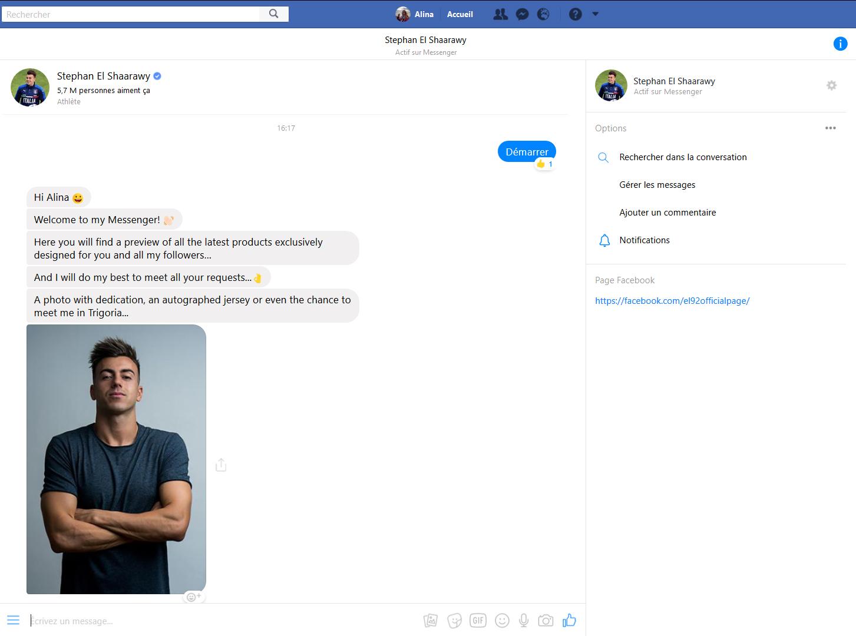 Stephan El Shaarawy répond à tous les fans via un Bot Messenger