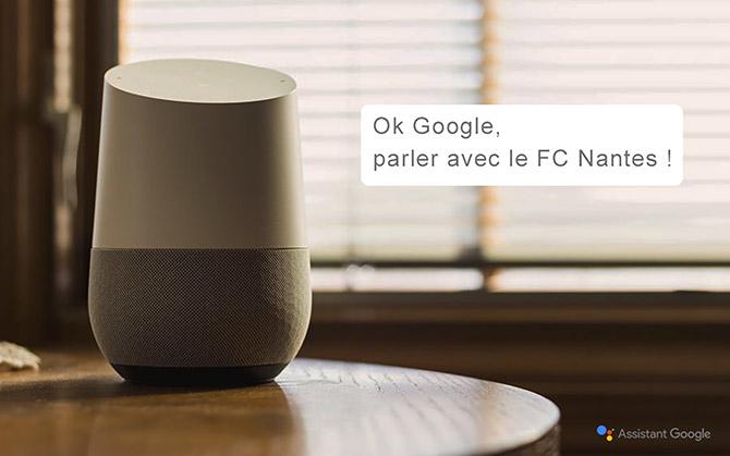 Le FC Nantes débarque sur Google Home