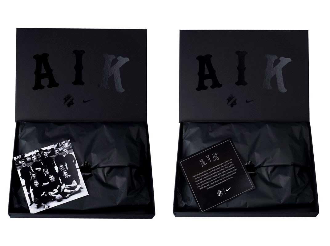 L'AIK Solna et Nike ont dévoilé un maillot entièrement noir (et historique)